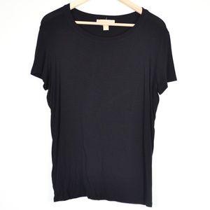 Plain Black Michael Kors Short-Sleeve T-Shirt